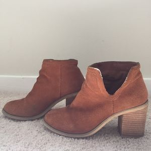 Urban Outfitters Suede Cutout Ankle Boot